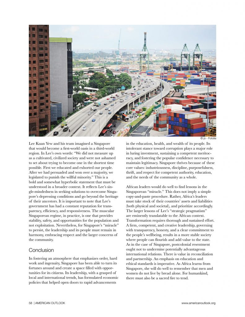 China in Africa articles from American Outlook Africa Rising Edition-18
