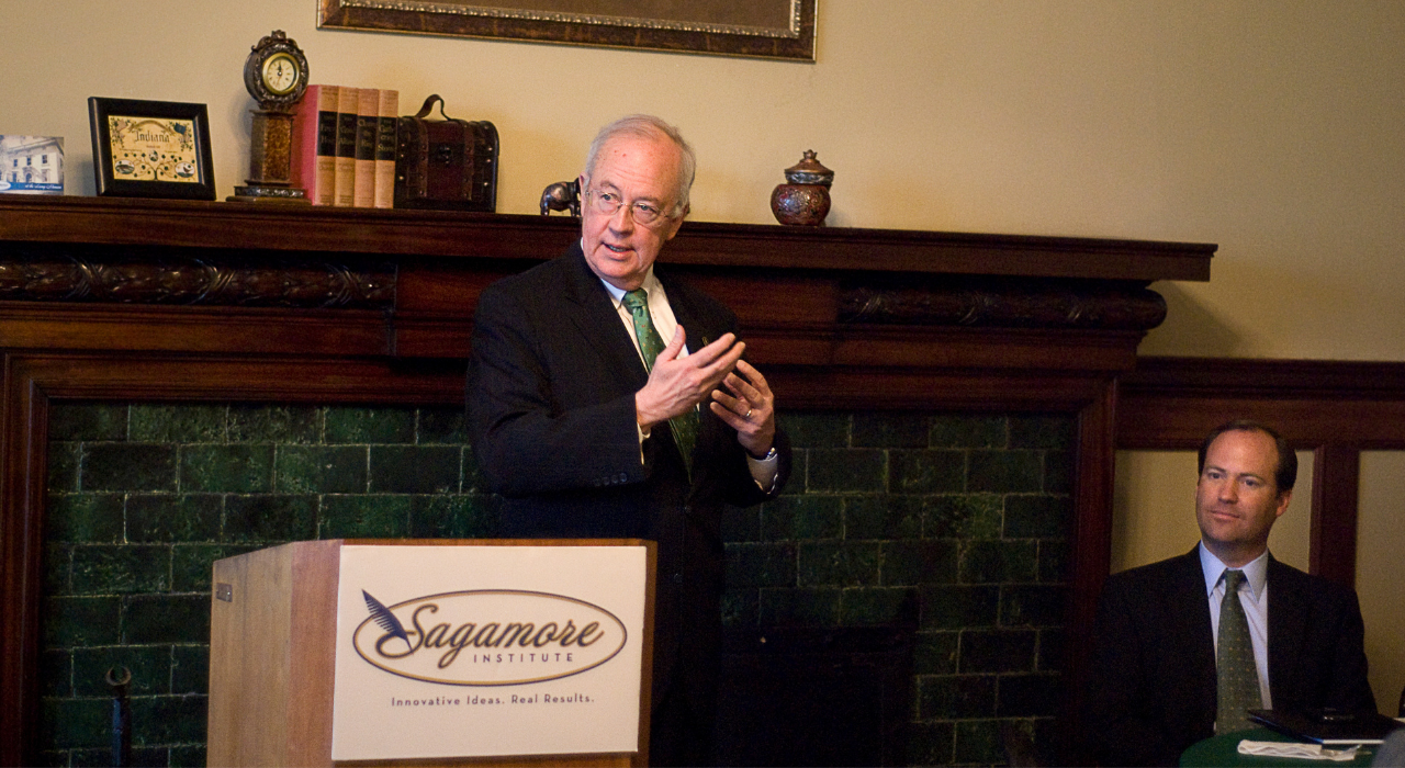 In 2011, Judge Ken Starr, President of Baylor University, spoke at Sagamore during a breakfast reception. Starr delivered his speech with the guidance of a pocket-sized copy of the US constitution, which each member in the audience received.