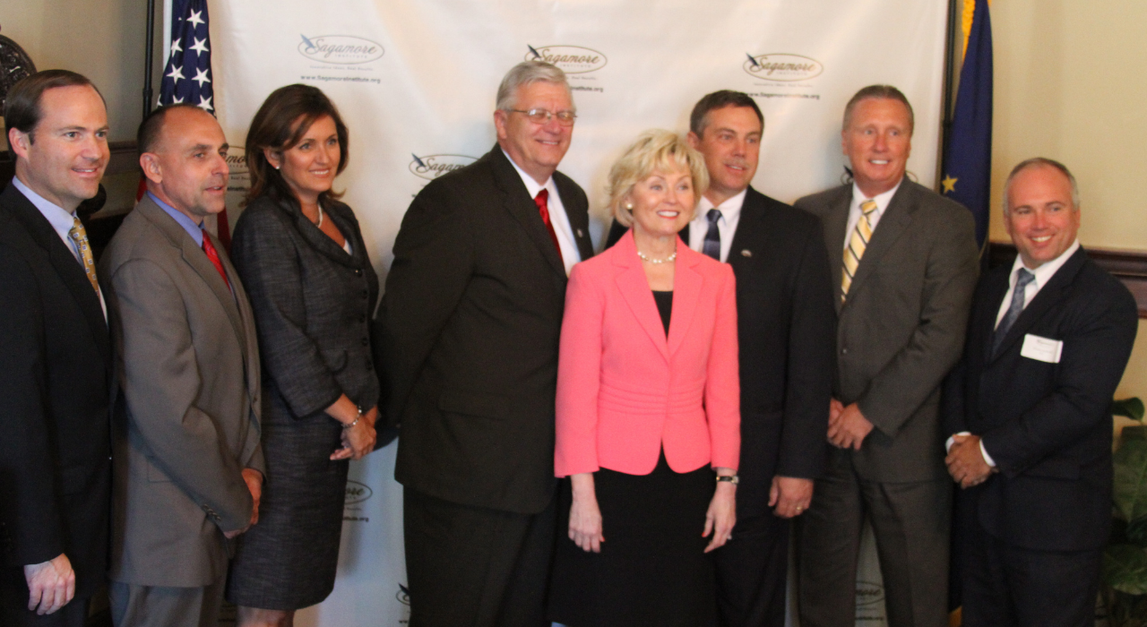 In September 2010, Sagamore Institute welcomed a group of Indiana mayors to hear Lt. Governor Becky Skillman highlight her then-recent agricultural trade mission to Zhejiang Province, Indiana's sister state in China. The event signaled theformallaunch ofSagamore's Mayors' Roundtable Initiative.