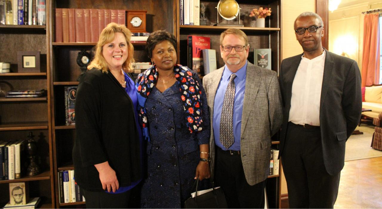 Sagamore hosted an evening reception featuring U.S. Ambassador to Rwanda Mrs. Mathilde Mukantabana.