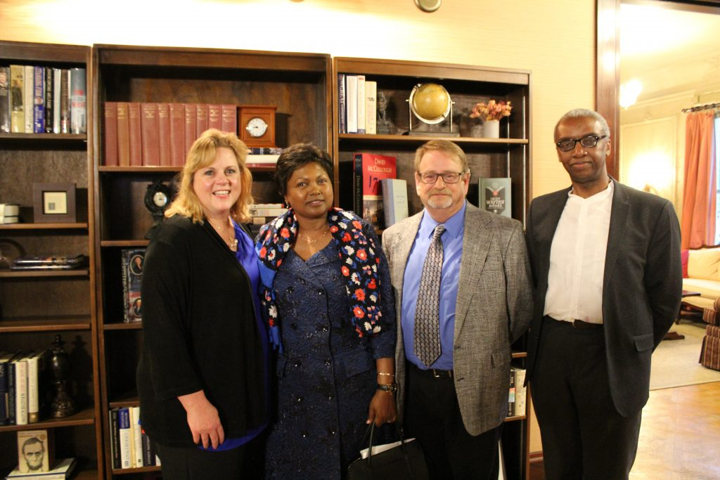 Sagamore hosted an evening reception featuring U.S. Ambassador to Rwanda Mrs. Mathilde Mukantabana. Her excellency shared the work of development, growth, and peace happening in Rwanda.