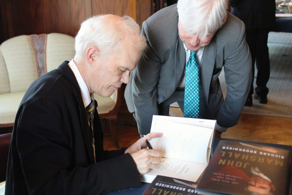 Sagamore Institute hosted a book event featuring Richard Brookhiser where he discussed his newest book, John Marshall: The Man Who Made the Court Supreme.