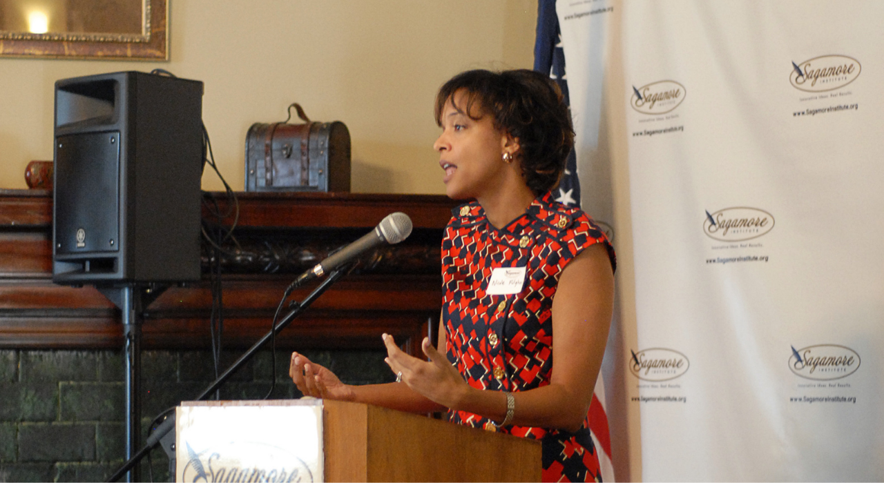 Sagamore project partner Nicole Baker Fulgham offers keynote at a Back to School roundtable.