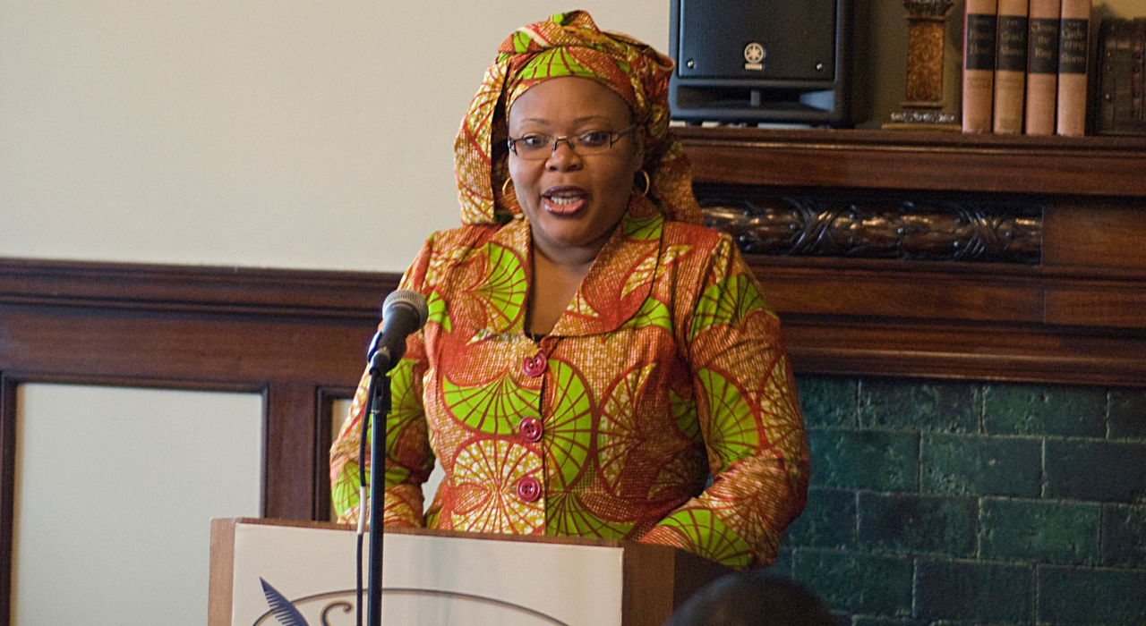 Sagamore hosted 2011 Nobel Peace Prize Winner Leymah Gbowee at the Levey Mansion and Mayor Ballard's office presented Ms. Gbowee with the key to the city.